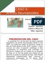 artritis reumatoidea - caso