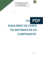 Unidad i Equilibrio de Fases de Sistemas de Un Componente.