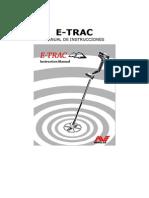 Manual minelab etrac detector de metales