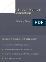 Pseudorandom Number Generation QiuliangTang Revision