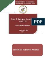Aula 1-Introdução à Quimica Analítica - Parte i