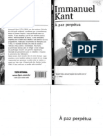 KANT, I. a Paz Perpétua