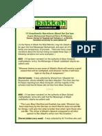 15 Unauthentic Narrations About the Quran Al Albaani