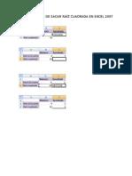 Varias Formas de Sacar Raíz Cuadrada en Excel 2007