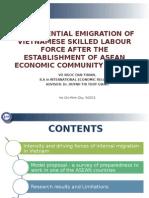 Emigration of Vietnamese Skilled Labour after AEC 2015 (Dissertation)