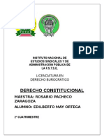 Derecho Constitucional Tarea 2o Cuatrimestres