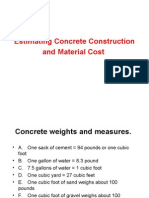 Estimating Concrete Material Cost Course 01421-6.4