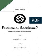 Arcand Adrien - Fascisme Ou Socialisme