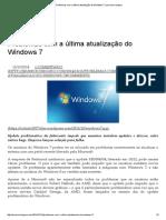 Problemas Com a Última Atualização Do Windows 7 _ Seu Micro Seguro