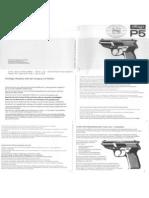 Walther P5 Manual (German)