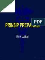 Prinsip Preparasi GT cekat