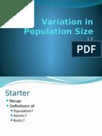 1.3 Variation in Population Size