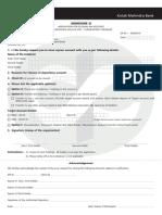 kotak securities Application Closing form
