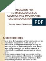 Valuacion Por Rentabilidad Cultivos Veracruz
