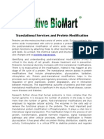 Translational Services and Protein Modification