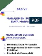 Bab 7 (Manajemen Sdm)