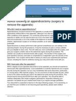 Advice Following Appendicectomy_feb15