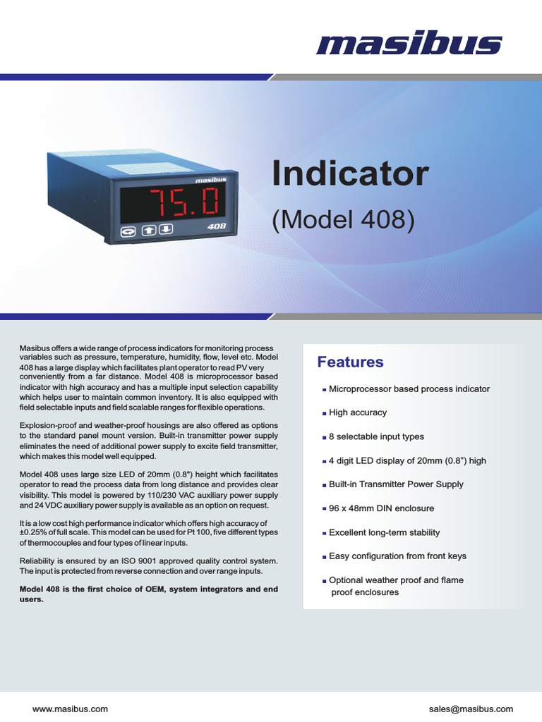 Masibus 408 Legacy Indicator Power Supply Thermocouple Digital Temperature Meter Using Lm335 Or Lm135