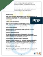 Matriz Propuesta Estrategica de Comunicacion Educacion 2015 1