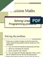 D1,L9 Solving Linear Programming problems.ppt