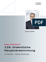 126. Ordentliche Hauptversammlung der AUDI AG, Rückblick