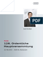 126. Ordentliche Hauptversammlung der AUDI AG