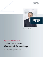 126th Annual General Meeting of AUDI AG, Outlook