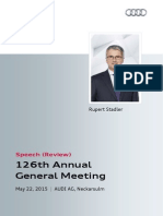126th Annual General Meeting of AUDI AG, Review