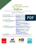 Conferenza sui beni comuni - Bruxelles, 26 maggio 2015