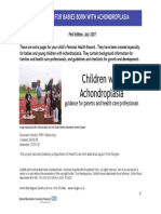 Children With Achondroplasia Guidance for Parents and Health Care Professionals