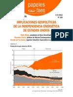 IMPLICACIONES GEOPOLÍTICAS DE LA INDEPENDENCIA ENERGÉTICA DE ESTADOS UNIDOS