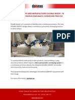 Daenas Develops and Manufactures Double Boost to Allow a Continuous Pneumatic Conveying Process
