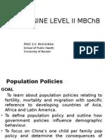 Demography Lecture 5 Pop Policies