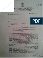 Bar Council of Kerala Circular