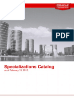 Specializations in oracle Guide 2