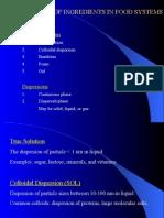 應用膠體化學 Lecture 11-Physical State of Food