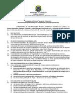Chamada n01-2015 Taxa de Bancada