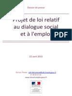 Dossier de Presse PJL Relatif Au Dialogue Social Et a l Emploi 22 Avril 2015