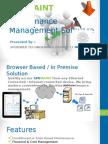 Machinery Maintenance Software