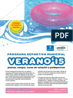 Folleto de Verano 2015 Madrid Capital