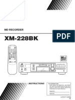 JVC XM-228BK MD Recorder Owner's Manual