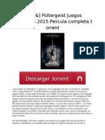 [&HD&] Poltergeist Juegos Diabólicos.2015.Pelicula.completa.torrent