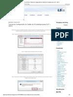 Suporte Técnico LS Brasil_ Tutorial de Configuração do Cartão de I_O analógica para CLP – XBCS.pdf