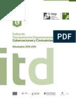 ITD Resultados Departamental Gobernaciones y Contralorías 2013-2014