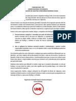 COMUNICADO  Nº2 UNIÓN NACIONAL ESTUDIANTIL ANTE LA SITUACIÓN DE NUESTRO COMPAÑERO RODRIGO AVILES