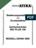 Manuale ATIKA Bioplus A160