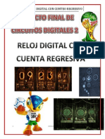 Proyecto Final Circuitos Digitales - Reloj Digital