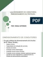 Dimensionamento de Condutores Dimensionamento Da Proteção