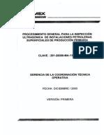 Procedimiento Para La Inspeccion en Instls de Produccion