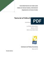 Teoria de La Politica Economica